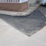 Reparación bache en calle.
